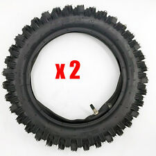 Pair of Tire and Inner Tube 3.00-12 inch Off Road Pit Trail Dirt Bike Motocross