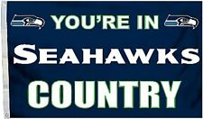 Seattle Seahawks Huge 3'x5' Nfl Licensed Country Flag / Banner - Free Shipping