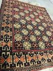 Vintage Handmade Wool Rug 4.1x2.9ft