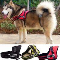 Reflective Service Sport Dog Harness Vest Coat Nylon W/ Removable Patches Place