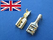 4.8mm Uninsulated Female Spade Crimp Terminals -Quality Cover Sleeve included UK