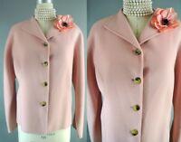 Linda Allard Ellen Tracy Coat 16 Pink Boiled Wool Jacket Wear To Work#1031