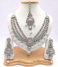Indian Wedding Bridal Jewellery Bollywood Asian Handmade Link Necklace Set