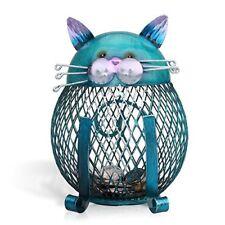 NEW Tooarts Cat Coin Box Piggy Bank Animal Ornament Iron Art Handcrafts