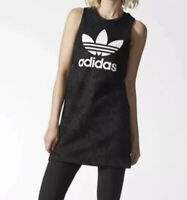Adidas Women's Size M Black Trefoil Lace Sleeveless Mini Dress