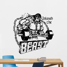 Beast Mode Gym Wall Decal Fitness Vinyl Sticker Motivation Poster Decor 112fit
