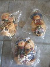 3 Christmas SNOWMAN Ornaments SISTERS & GRAM & BESTFRIENDS    FREE SHIPPING!