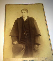 Antique Victorian American Wealthy Coat & Hat Boy ID'd!  Chicago Cabinet Photo!