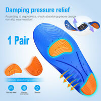 Work Boots Massaging Gel Advanced Insoles Shoe Inserts Orthotic Arch Support Pad