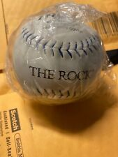 The Rock Softball White With Blue Thread New Usssa