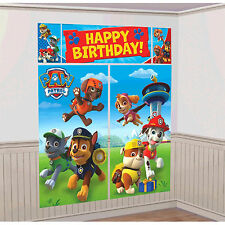 Paw Patrol Puppy Pets Birthday Scene Setter Banner Wall Party Decoration Kit