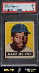 1948 Leaf Jackie Robinson ROOKIE RC #79 PSA 5 EX (PWCC-E)