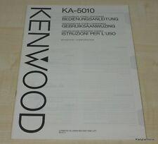 Kenwood KA-5010 Bedienungsanleitung mehrsprachig (auch in Deutsch)