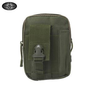 TOURBON Tactical Nylon Molle Pouch Tool Carry Belt Waist Utility Compact Pack GR