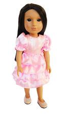 My Brittany's Pink Holiday Dress for Wellie Wisher Dolls