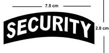 SECURITY Iron on Screen Print fabric Machine Washable transfer Badge