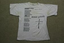 Vintage 1992 Sonic Youth Youth Against Facism European Tour Shirt