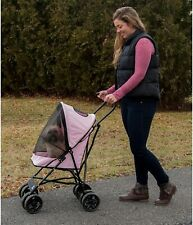 "Pet Gear Ultra Lite Travel Stroller, Compact, Large Wheels, 38"" Tall, Pink"