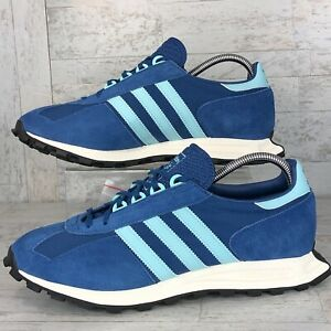 Adidas Originals RACING 1 Men's Size 10.5 Retro Sneakers Blue Suede H00479 New!