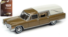 Johnny Lightning Cadillac Hearse Gold with ivory 1966 JLSP090 1/64