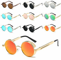 Gothic Steampunk Blinder Cyber Round Lens Goggles Polarized Sunglasses Sring Arm