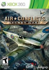 AIR CONFLICTS SECRET WARS XBOX 360 NEW! WWII, WWI, WAR, BATTLE WARFARE DOGFIGHT