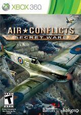 AIR CONFLICTS SECRET WARS XBOX 360 NEW! WWII, WWI, WAR, BATTLE WARFARE DOGFIGHT