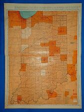 MAP ANTIQUE 1855 COLTON INDIANA STATE USA LARGE REPLICA POSTER PRINT PAM1736