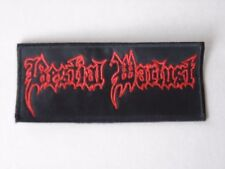 BESTIAL WARLUST LOGO EMBROIDERED PATCH