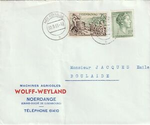 1963 Luxembourg cover sent from Noerdange to Boulaide