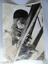 PHOTO PARACHUTISTE FEMME ANNEES 60 / TROUPES AEROPORTEES PARATROOPS