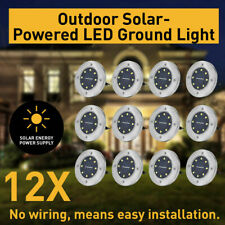4/8/12 Solar Powered LED Buried Inground Recessed Light Garden Outdoor Deck Path
