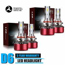 2-Side 9005+H11 LED Headlight Kit Fog Light Bulb Error Free 6000K Hi/Lo Beam JLA