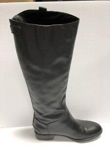 Sam Edelman Women's Penny, Leather Riding Boots Black Size 8.5W