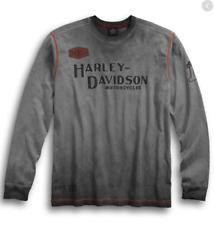 HARLEY-DAVIDSON - Men's Iron Block Distressed Long Sleeve Tee