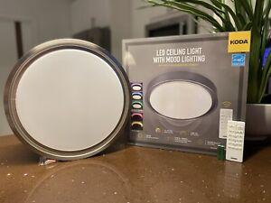 "Koda 14"" LED Ceiling Light Mood Lighting Motion Sensor Remote 16 Colors 1600LM"