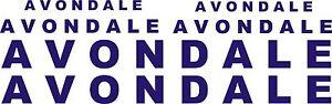 6 x Avondale Caravan Vinyl Stickers