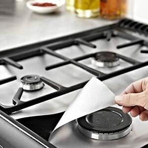 Hob Stove Cooker Cover Reusable Protector Range Liner Non Stick Gas Mat 4x