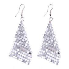 Fashion Jewelry Diamond Shape Sequins Shine Mesh Drop Earrings For Womens Girls