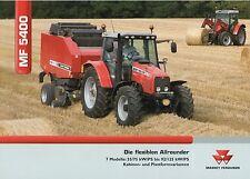 Prospekt Massey Ferguson MF 5400 2 06 2006 Trecker Traktor Schlepper tractor