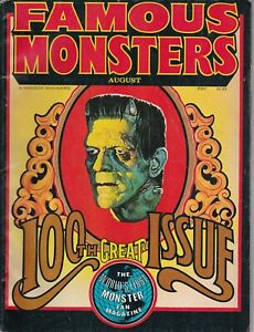 🌟 1973 FAMOUS MONSTERS MAGAZINE 100th ISSUE FN/VF