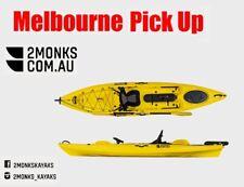 Fishing Kayak Single Sit-On Pro 3.6M incl Seat Paddle Rudder Melbourne Yellow