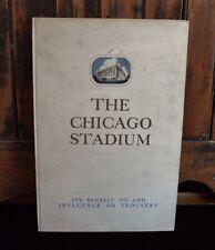 >Original & RARE 1928 CHICAGO STADIUM PROPOSAL BOOK (#746/1,000) + SIGNED LETTER