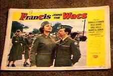 FRANCIS JOINS THE WACS 1954 LOBBY CARD #4 DONALD OCONNOR