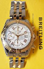 Breitling Chronomat Evolution 18k Rose Gold & Steel Chronograph Watch C13356
