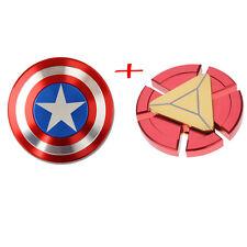 Captain America Shield Fidget Hand Spinner Iron Man Toy EDC Focus ADHD Autism