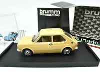 Modellauto Auto modelle 1/43 Fiat 127 Brumm Gelb diecast modellbau automodell