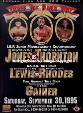 ROY JONES JR vs.TONY THORNTON / Original Onsite Boxing Fight Poster