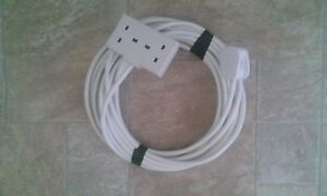 10M 2 Gang 13A Extension Lead 2 Way 13 Amp Trailing Socket