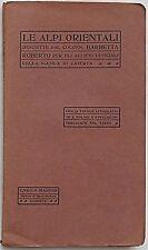 BARBETTA Le Alpi Orientali descritte per allievi Uff. Caserta. Ca 1916 (Dolomiti